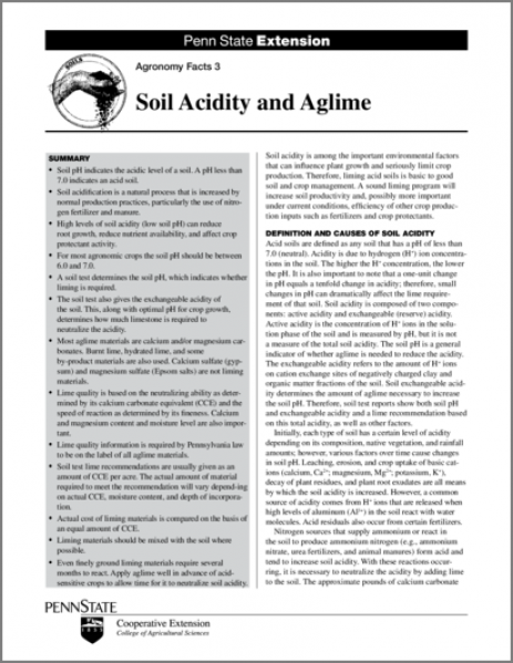 Soil Acidity and Aglime