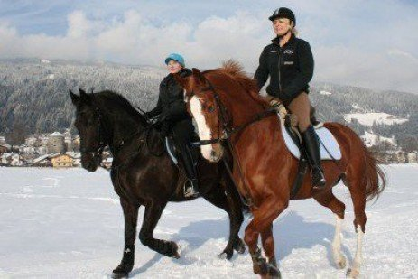 Winter Horseback Riding