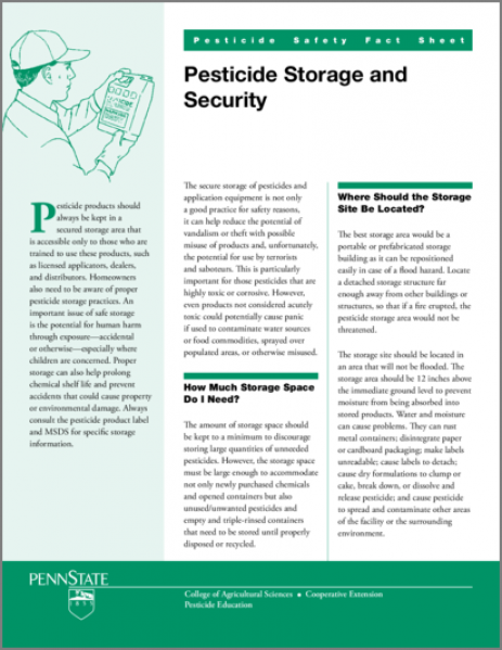 Pesticide Storage and Security