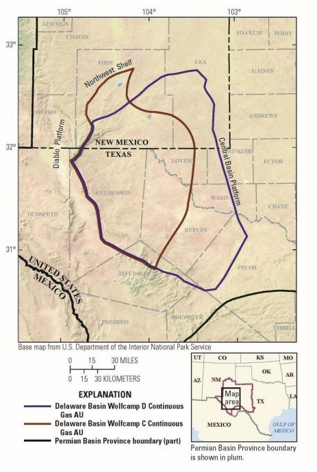 USGS Identifies Largest Continuous Oil and Gas Resource Potential Ever