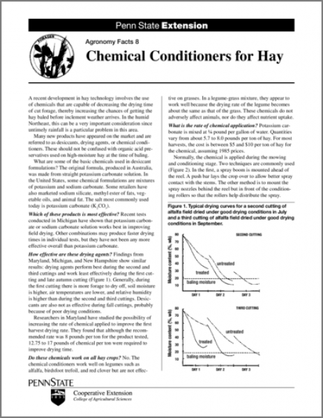 Chemical Conditioners for Hay