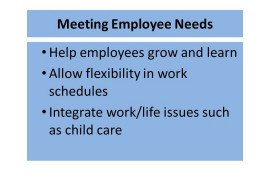 Meeting Employee Needs