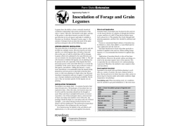 Inoculation of Forage and Grain Legumes