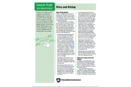 Food For Profit: Price and Pricing