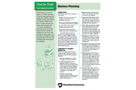 Food for Profit: Business Planning