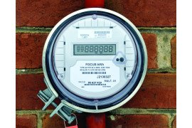 An electronic meter like this one can provide net metering for your electricity use.