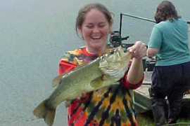 Figure 1. Largemouth bass are one of the most common and prized fish in Pennsylvania ponds.