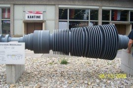 Power turbine on display in Vienna