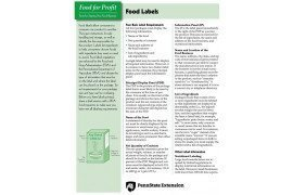 Food for Profit: Food Labels