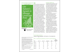 Using Nature's Signals to Manage Landscape Pests