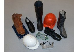 Collection of various protective gear