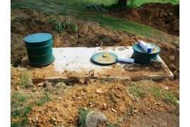 Homeowners should make a map showing the location of the components on their on-lot septic system. Photo: G. Hurd, Penn State Extension