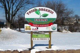 Toigo Organic Farms sign. Photo: Bill Lamont