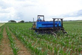 Figure 1. The Penn State Cover Crop Interseeder and Applicator. (Photo: Greg Roth)