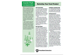 Food For Profit: Marketing Your Food Product