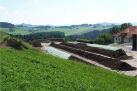 Windrow composting - the most commonly-used and labor-intenstive composting method