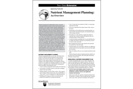 Nutrient Management Planning: An Overview