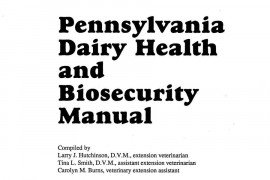 Pennsylvania Dairy Health and Biosecurity Manual