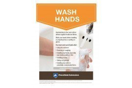 Food Safety Poster: Wash Hands