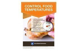 Food Safety Poster: Control Food Temperatures