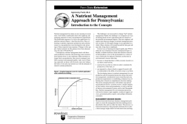 A Nutrient Management Approach for Pennsylvania: Introduction to the Concepts