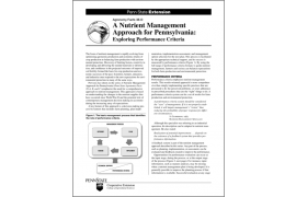 A Nutrient Management Approach for Pennsylvania: Exploring Performance Criteria