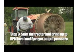 Air-blast Sprayer Calibration: Process
