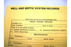 Keeping your own well and septic records is important. Photo: George Hurd, Penn State Extension