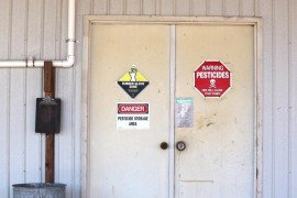 Proper Signage on a Pesticide Storage Area