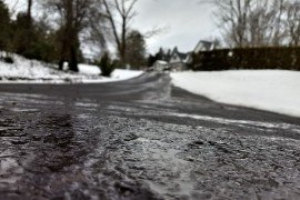 Is melting snow causing water issues on your property? Image credit: Jennifer Fetter