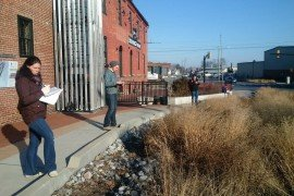Students at the January Chesapeake Bay Landscape Professional training in Lancaster evaluate a bioretention area