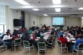No Empty Chairs at Bilingual Workshop on GAP and Pruning Fruit Trees