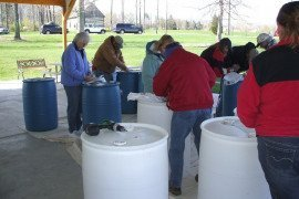 Rain barrel workshops are often held for home gardeners in Pennsylvania. Photo credit: Erin Frederick