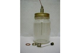 Thermocouple for testing temperature inside jar: National Center for Home Food Preservation