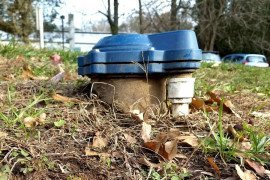 A sanitary well cap with a rubber seal is one way to help protect your groundwater. (Photo by Jennifer Fetter, Penn State)