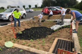 Master Watershed Stewards in York County Work to Plant Rain Gardens