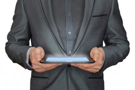 Man Businessman Tablet by mediamodifier on pixabay.com cc0