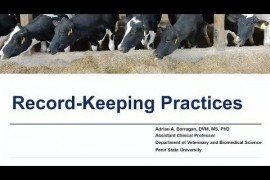 Maternity Management Practices in Dairy Farms: Record Keeping Practices