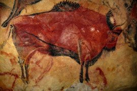 Bison painting in the Cave of Altimira, photo from Pixabay