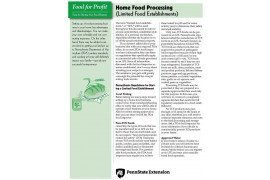 Food for Profit: Home Food Processing