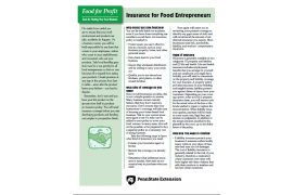 Insurance for Food Entrepreneurs
